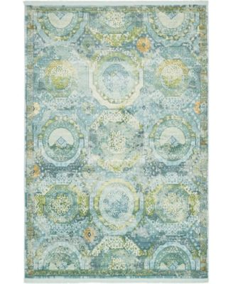 Kenna Ken4 Light Blue 10' x 13' Area Rug