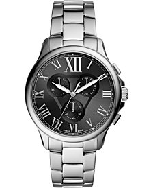Fossil Men's Chronograph Monty Stainless Steel Bracelet Watch 42mm