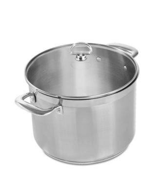 Induction 21 Steel Cookware 8Qt. Stockpot With Glass Lid