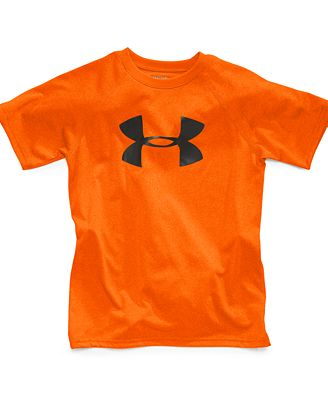 Under armour kids t shirt boys big logo tee kids macy 39 s for Under armour shirts for kids