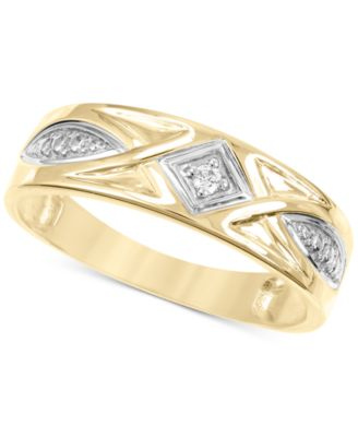 Men's Diamond Accent Band in 14k Gold