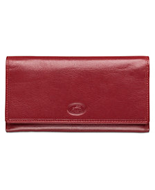 Mancini Equestrian-2 Collection RFID Secure Trifold Checkbook Wallet