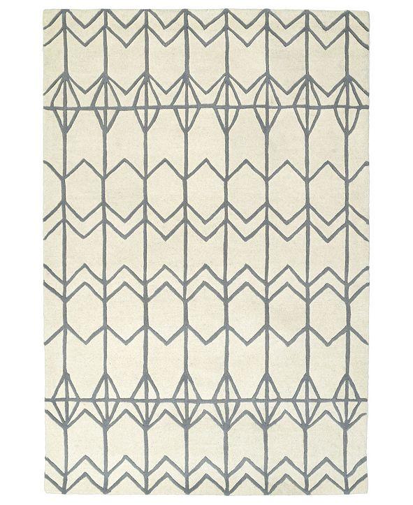 Kaleen Origami ORG05-01 Ivory 2' x 3' Area Rug