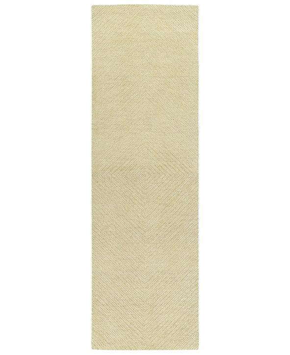 """Kaleen Textura TXT03-29 Sand 2'6"""" x 8' Runner Rug"""