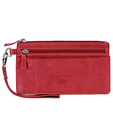 Mancini Casablanca Collection RFID Secure Wristlet Clutch Wallet
