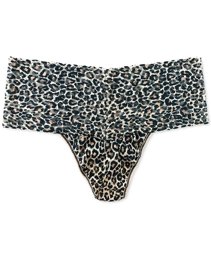 Hanky Panky - Women's Plus Size One Size Leopard-Print Thong 2X1924X