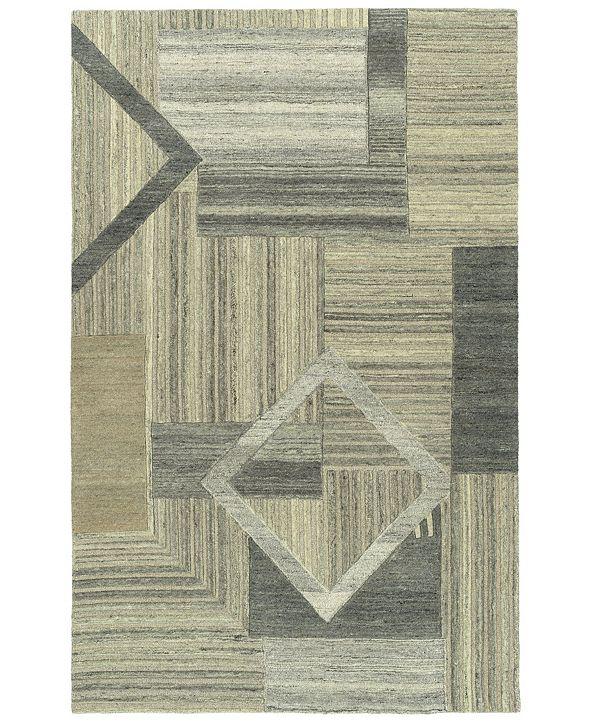 Kaleen Alzada ALZ04-49 Brown 2' x 3' Area Rug