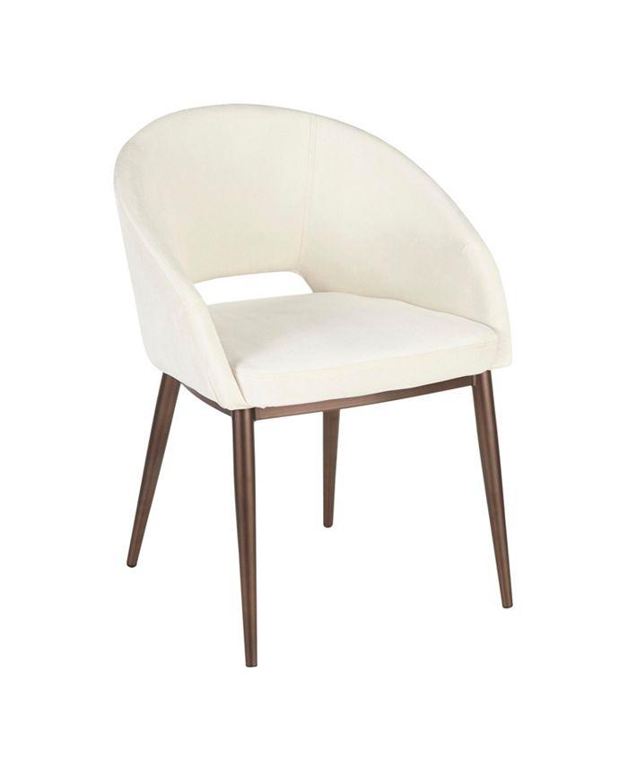 Lumisource - Renee Copper Metal Chair, Quick Ship