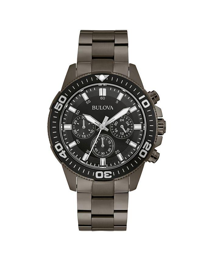 Bulova - Men's Chronograph Sport Gray Stainless Steel Bracelet Watch 42mm