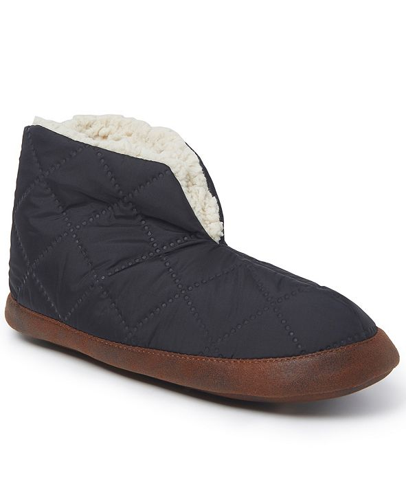 Dearfoams Women's Original Quilted Nylon Warm-Up Bootie Slipper, Online Only