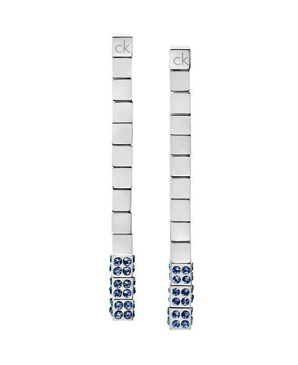 Calvin Klein Tune PVD Stainless Steel Swarovski Crystal Drop Earrings