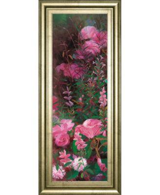"Pink Azalea Garden I by Li Bo Framed Print Wall Art - 18"" x 42"""