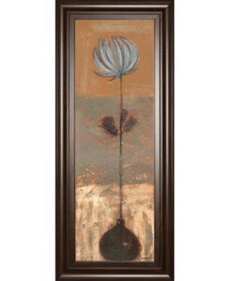"Solitary Flower I by Norman Wyatt Framed Print Wall Art - 18"" x 42"""