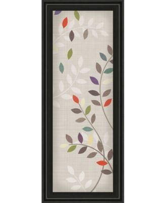 "Leaflets by Tandi Venter Framed Print Wall Art - 18"" x 42"""