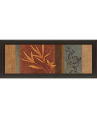 """Leaf Silhouette I by Jordan Grey Framed Print Wall Art - 18"""" x 42"""""""