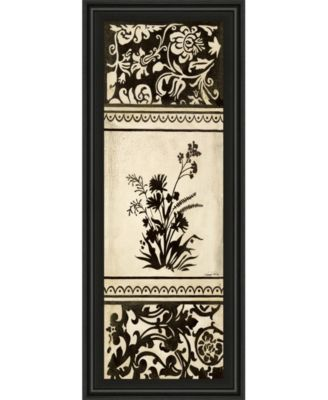 "Garden Shadow Il by Kimberly Poloson Framed Print Wall Art - 18"" x 42"""