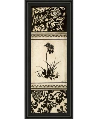 "Garden Shadow I by Kimberly Poloson Framed Print Wall Art - 18"" x 42"""