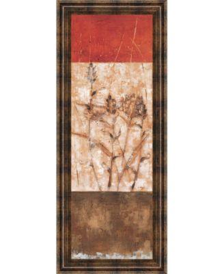 """Fresco I by Loretta Linza Framed Print Wall Art - 18"""" x 42"""""""