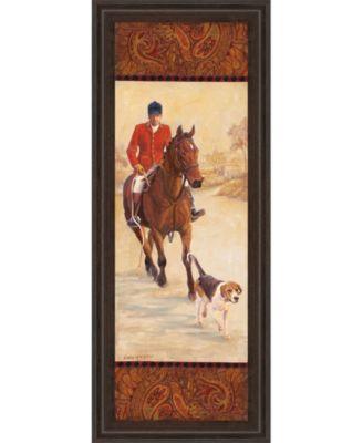 "on The Hunt I by Linda Wacaster Framed Print Wall Art - 18"" x 42"""