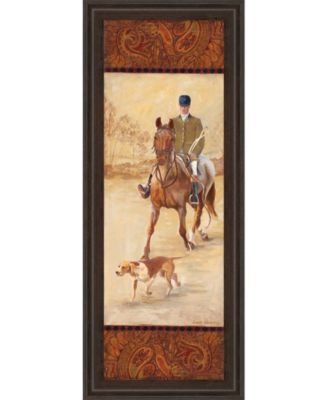 """on The Hunt Il by Linda Wacaster Framed Print Wall Art - 18"""" x 42"""""""