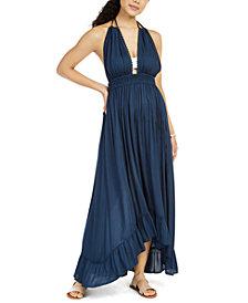Raviya Ruffled Halter Cover-Up Maxi Dress