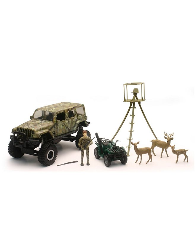 Group Sales New Ray 1:18 Scale Jeep Wrangler Deer Hunting Set