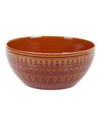 Aztec Rust Deep Bowl