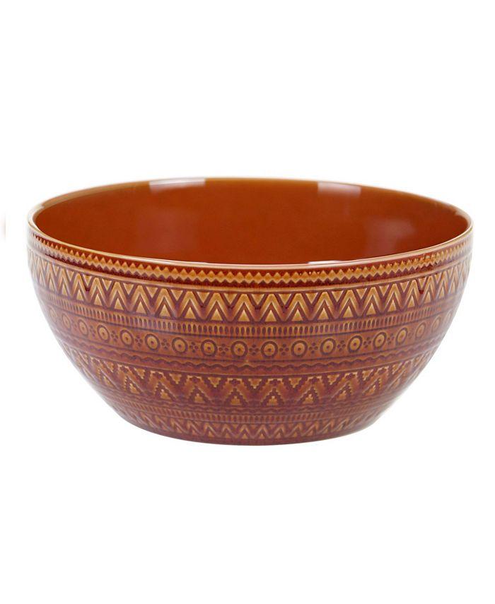 Certified International - Aztec Rust Deep Bowl