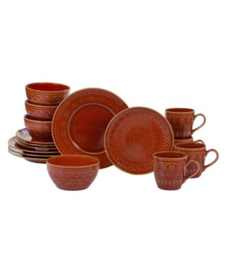 Certified International Aztec Rust 16-Pc. Dinnerware Set