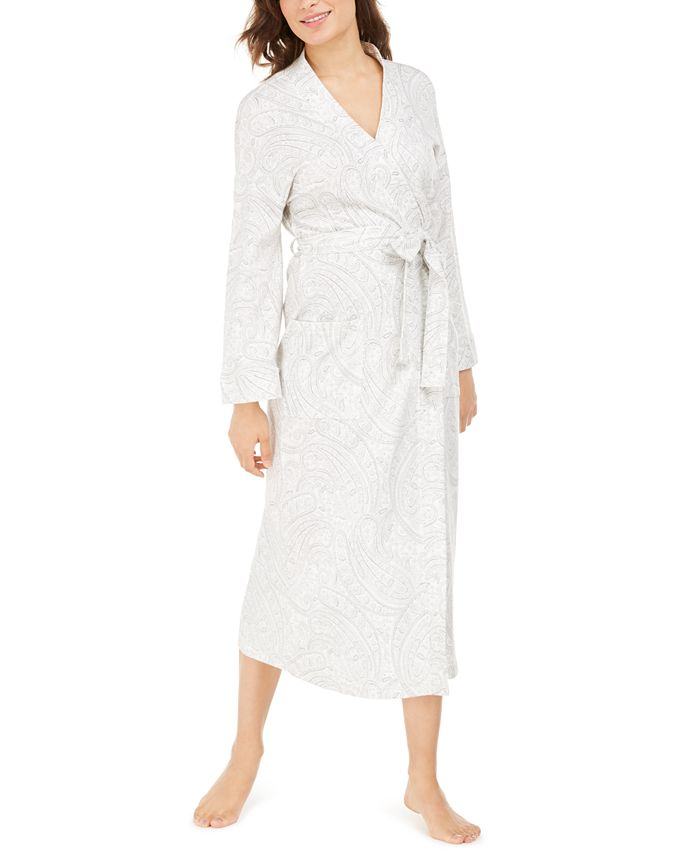 Charter Club - Cotton Floral-Print Long Robe