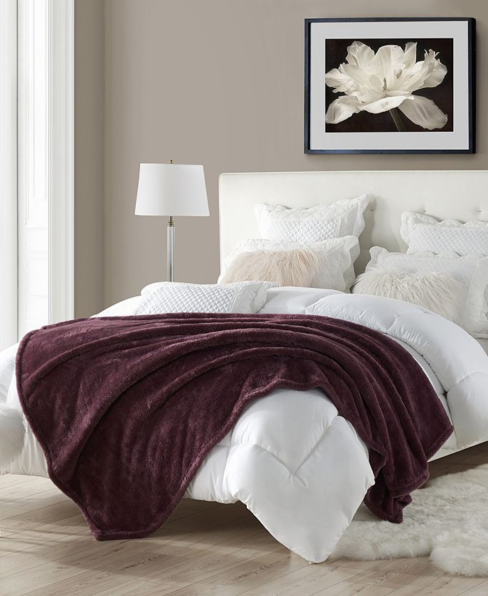 """Cathay Home Inc. - Extra-Fluffy High Pile Cotton Candy Soft Faux Fur Throw Blanket Oversized 60"""" x 70"""""""