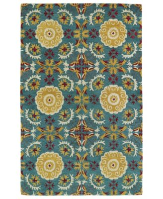 Global Inspirations GLB06-78 Turquoise 9' x 12' Area Rug
