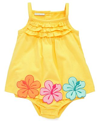 First Impressions Baby One-Piece, Baby Girls Hibiscus Sunsuit