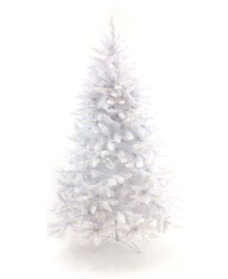 7.5' Pre-Lit White Christmas Tree with Warm White LED Lights