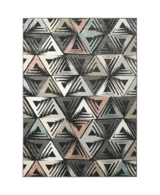 CLOSEOUT! Global Rug Design Cresent CRE02 Dark Gray 7'10