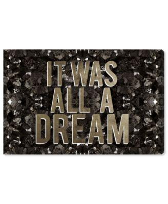 It Was All A Dream Champagne Canvas Art, 15