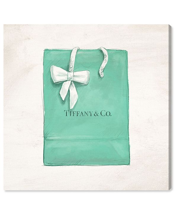 """Oliver Gal Jewelry Shopping Bag Canvas Art, 36"""" x 36"""""""