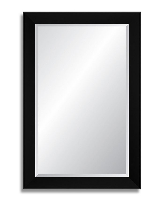 Reveal Frame & Décor - Midnight Black Beveled Wall Mirror