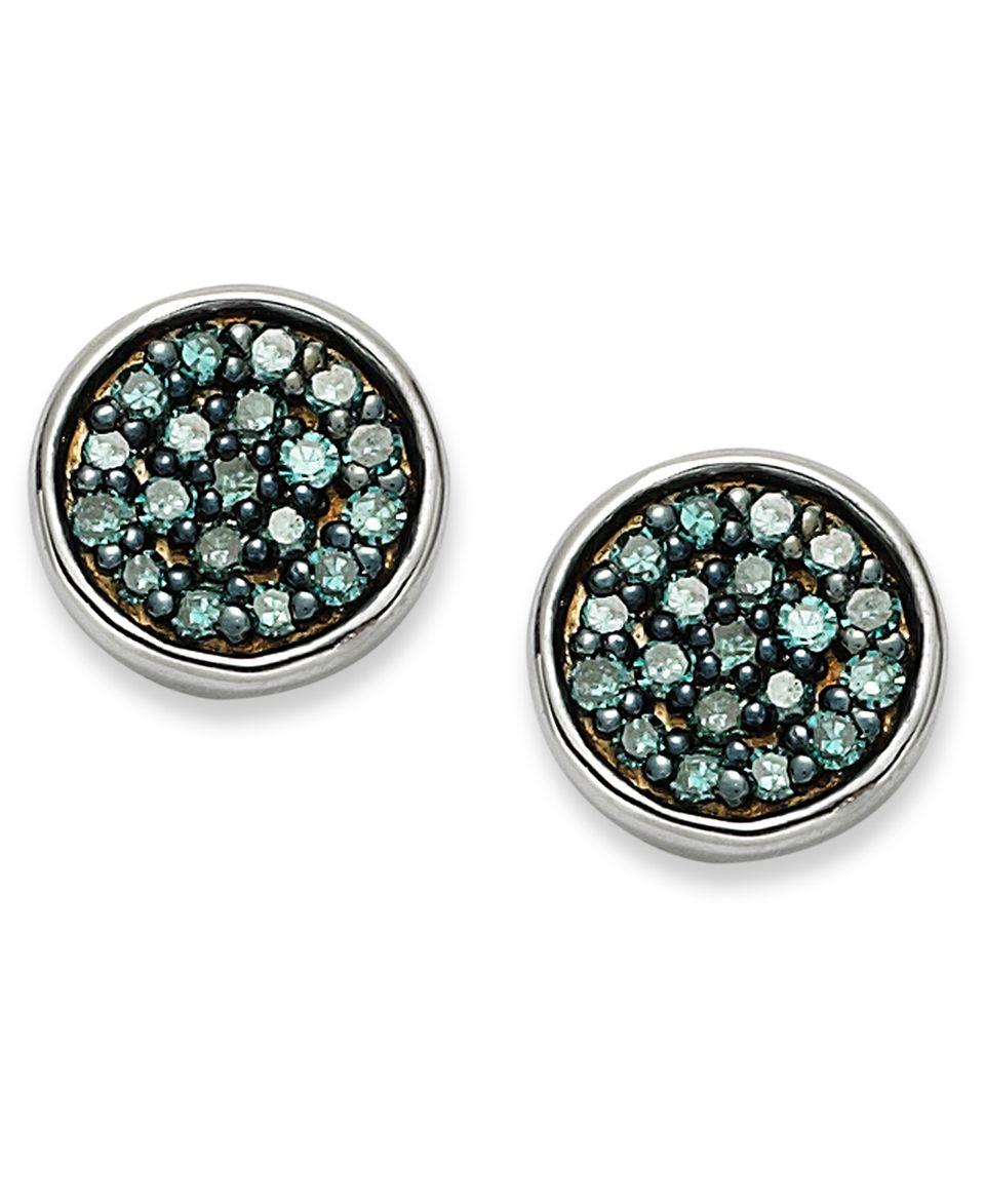 Victoria Townsend Sterling Silver Earrings, Black Diamond Stud Earrings (1/2 ct. t.w.)   Earrings   Jewelry & Watches