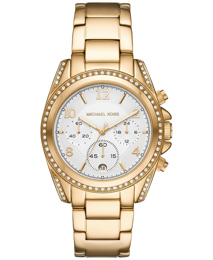 Michael Kors - Women's Chronograph Blair Gold-Tone Stainless Steel Bracelet Watch 39mm
