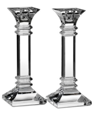 "Marquis by Waterford ""Treviso"" Candlestick Pair, 8"""