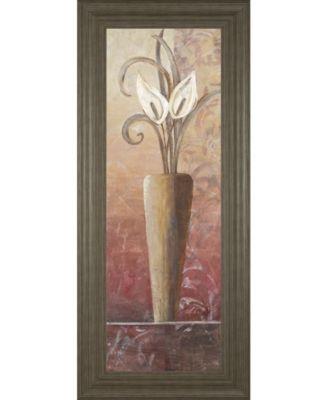 """Flower in Vase I Framed Print Wall Art, 18"""" x 42"""""""