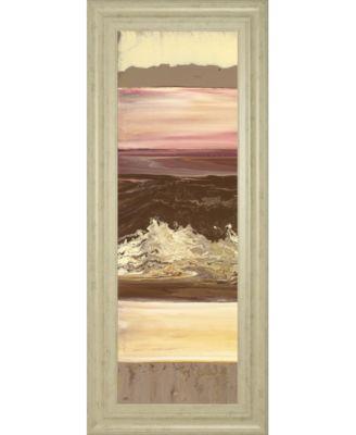 """Down Under I by Dlynn Roll Framed Print Wall Art, 18"""" x 42"""""""