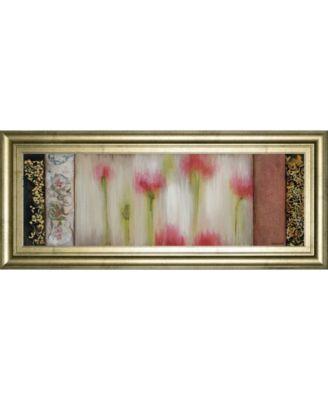 "Rain Flower I by Dysart Framed Print Wall Art, 18"" x 42"""