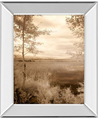 Peaceful Stream Il by Vivian Flasch Mirror Framed Print Wall Art - 22