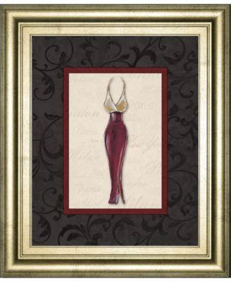 """Fashion Dress II by Susan Osbourne Framed Print Wall Art, 22"""" x 26"""""""