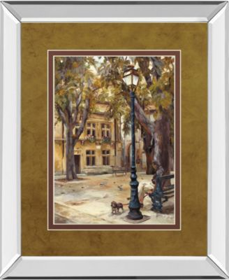 "Provence Village II by Marilyn Hageman Mirror Framed Print Wall Art, 34"" x 40"""