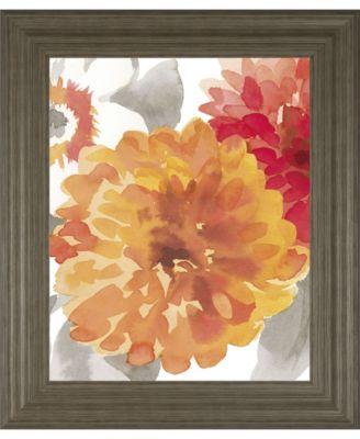 "Peach Flower II by Sandra Jacobs Framed Print Wall Art, 22"" x 26"""
