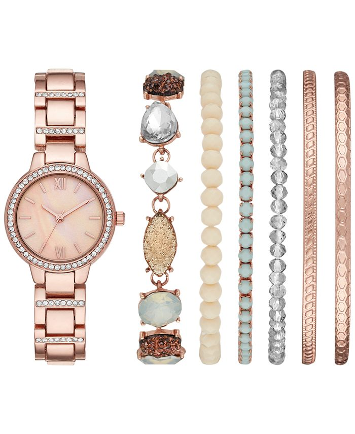 Folio - Women's Rose Gold-Tone Bracelet Watch 30mm