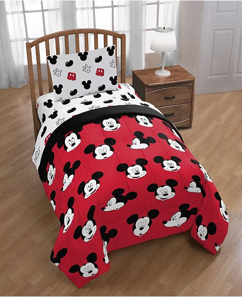 Disney Mickey Mouse 4 Piece Twin Comforter Set & Reviews   Bed in